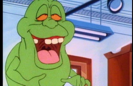 For the show, Slimer was promoted to one of the team, in a comedy sidekick role in the vein of Scooby Doo. So popular was he that the show was eventually renamed Slimer And The Real Ghostbusters.