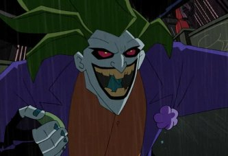 2004's The Batman animated show radically redesigned the Joker as a demonic-looking fella who for some reason swung around with his feet like a monkey. He was voiced by Kevin Michael Richardson.