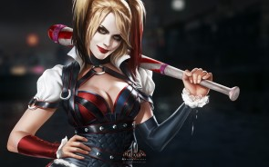 Tara Strong is of course most familiar as Harley from the previously mentioned Batman: Arkham games. The above image comes from 2015's Batman: Arkham Knight which introduced Harley's new favourite weapon - a baseball bat. This was carried over onto Suicide Squad.