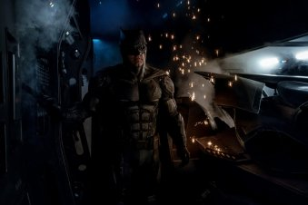 """Justice League (2017) - In next year's DC hero team-up, Batman will get a new suit, that is being dubbed his """"tactical batsuit."""" It is more detailed than Batfleck's previous outfit and most noticeably has the new addition of goggles. Quite what Batman needs the suit for in the movie has yet to be seen."""