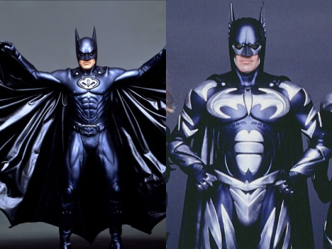 Batman & Robin (1998) - As you can see, this toyetic approach only increased when George Clooney donned the suit. While the initial costume is bad enough with its infamous nipples, the second is a real eyesore with its intrusive silver detailing and chest-hugging batsymbol.