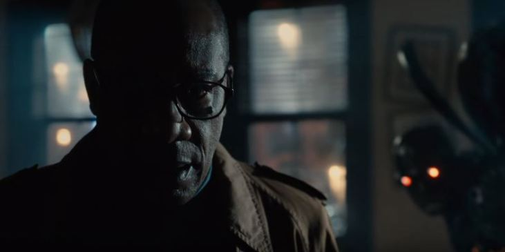 Silas Stone (Joe Morton) - Cyborg's father has a Mother Box in his possession, with a Parademon on his trail, in the Justice League trailer.