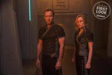 Marvel Studios' CAPTAIN MARVEL L to R: Leader of Starforce (Jude Law) and Carol Danvers/Captain Marvel (Brie Larson)