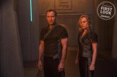 Marvel Studios' CAPTAIN MARVEL L to R: Leader of Starforce (Jude Law) and Carol Danvers/Captain Marvel (Brie Larson)